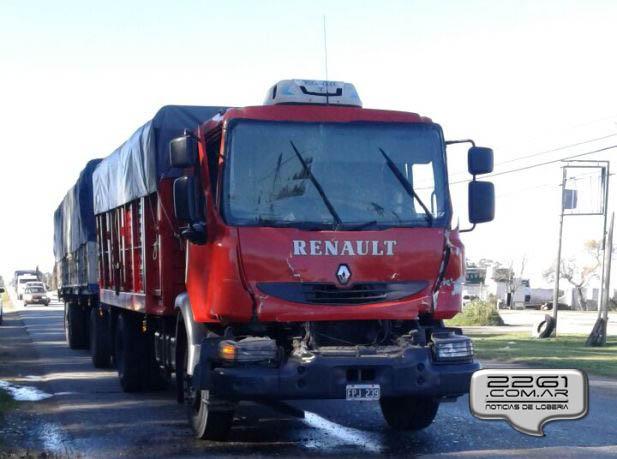 Choque camiones ruta 227 sep 17