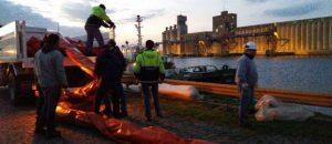 Derrame fuel oil puerto Necochea (1)