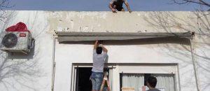 Vecinos pintaron centro de salud