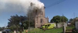 el castillo necochea incendio asesinato