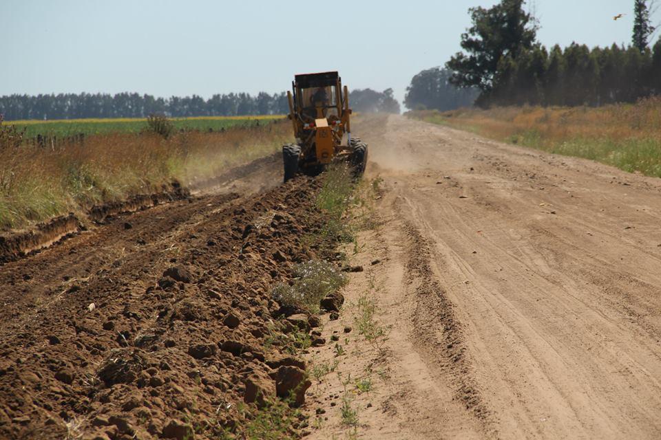 maquinaria vial trabajo camino rural