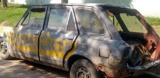 secuestro vehículos abandonados